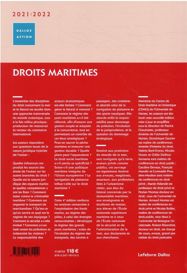 Droits maritimes (édition 2020/2021)