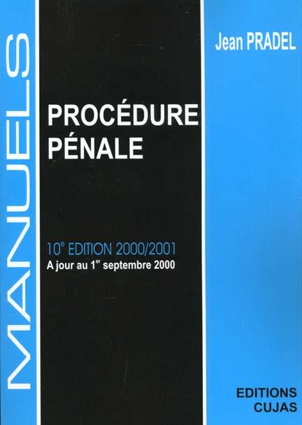 Manuel procedure penale (10e ed 2000-2001)
