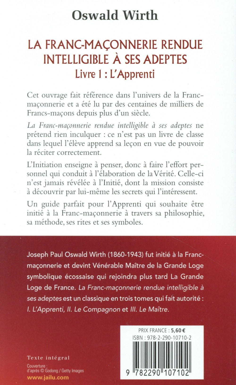 La Franc-Maçonnerie rendue intelligible à ses adeptes t.1 ; l'apprenti