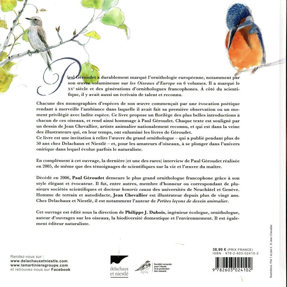 Les oiseaux de Paul Geroudet ; ses plus beaux textes illustrés
