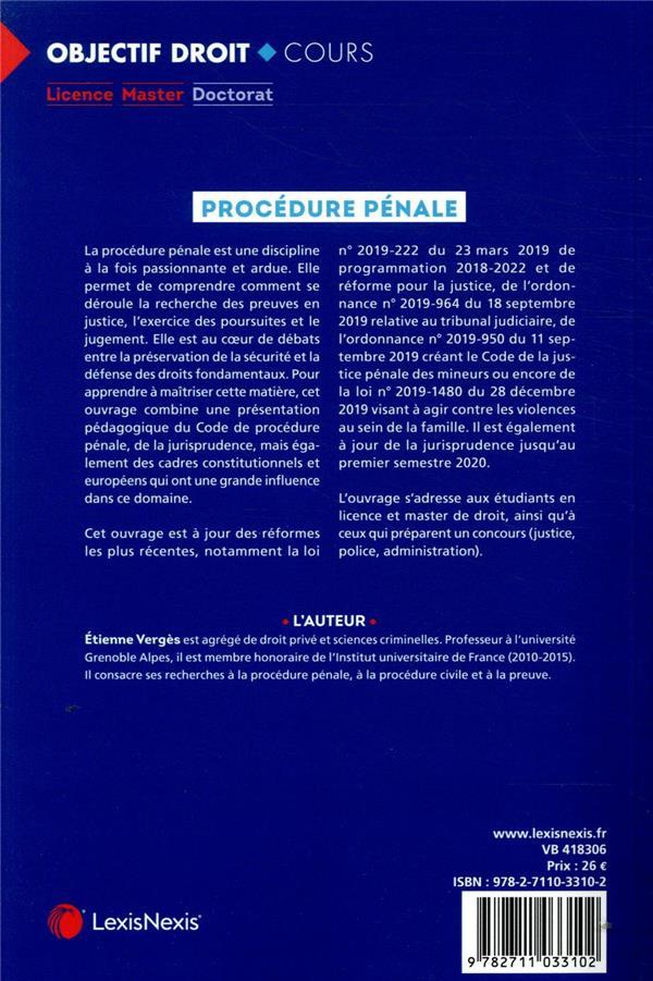 Procédure pénale (6e édition)