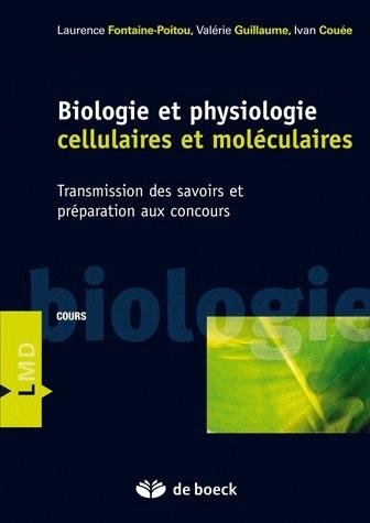 Biologie et physiologie cellulaires et moléculaires ; transmission des savoirs et préparation aux concours