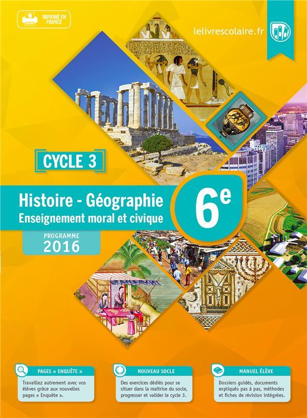 Histoire-géographie-emc ; 6ème (édition 2016)