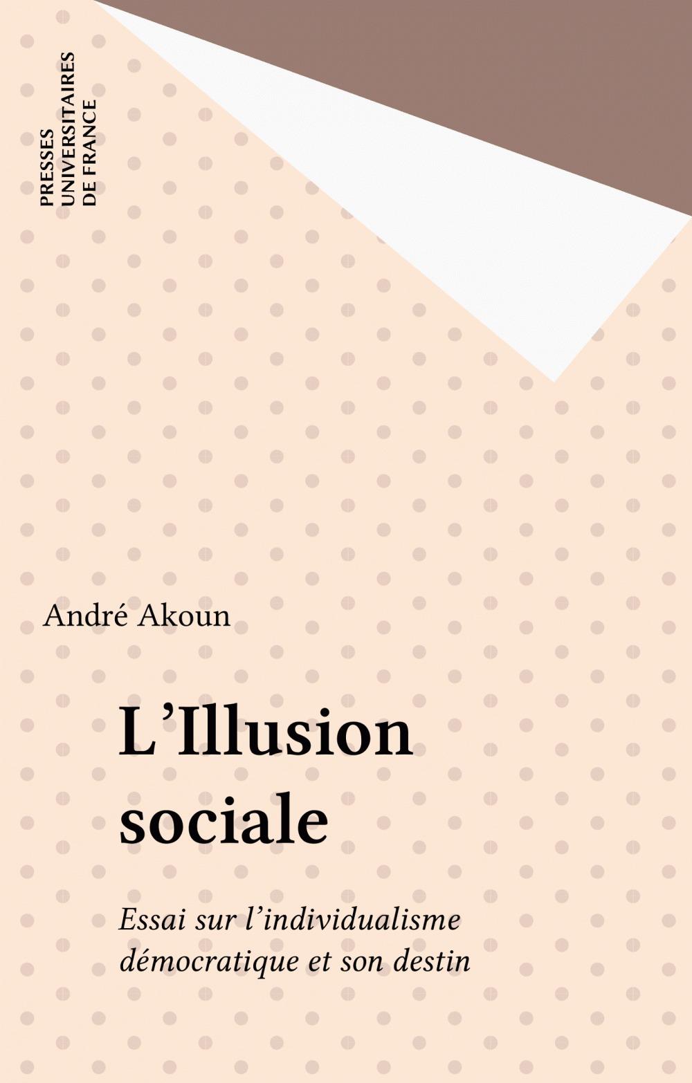 L'illusion sociale. essai sur l'individualisme democratique et son destin