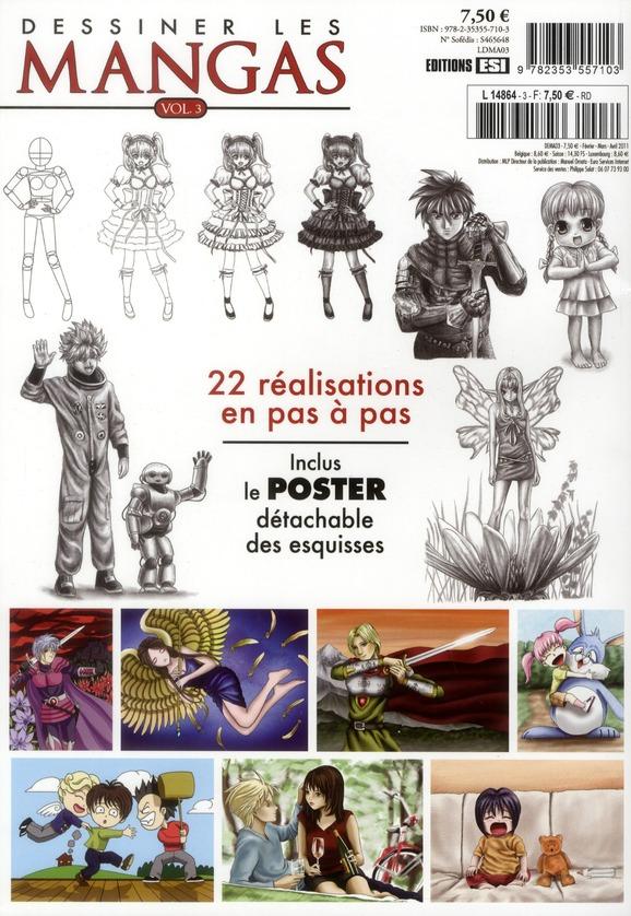 Dessiner les mangas t.3 ; spécial personnages expressifs ; 22 réalisations en pas à pas