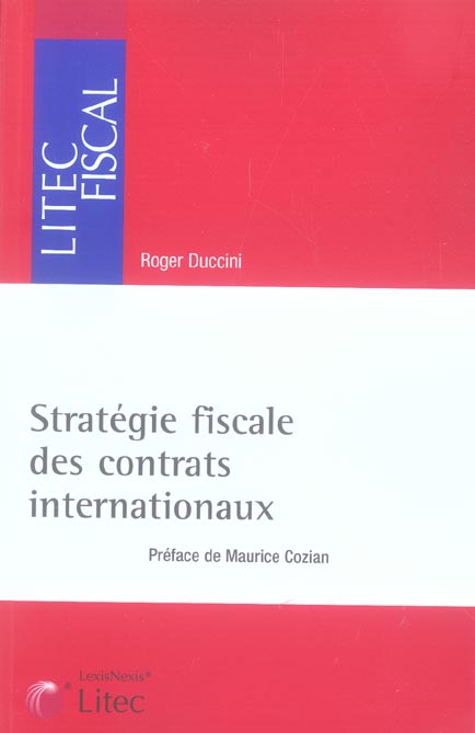 Strategie Fiscale Des Contrats Internationaux