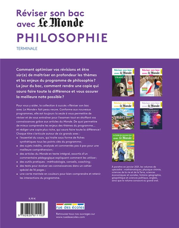 Réviser son bac avec Le Monde ; philosophie ; 62 questions corrigées et commentées (édition 2021)