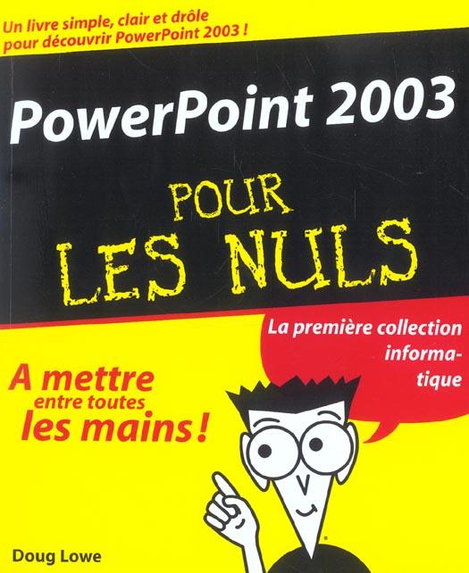 Powerpoint 2003 pour les nuls