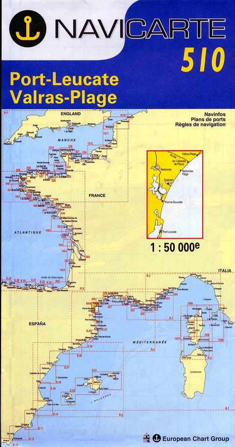 NAVICARTE N.510 ; Port-Leucate, Valras-Plage