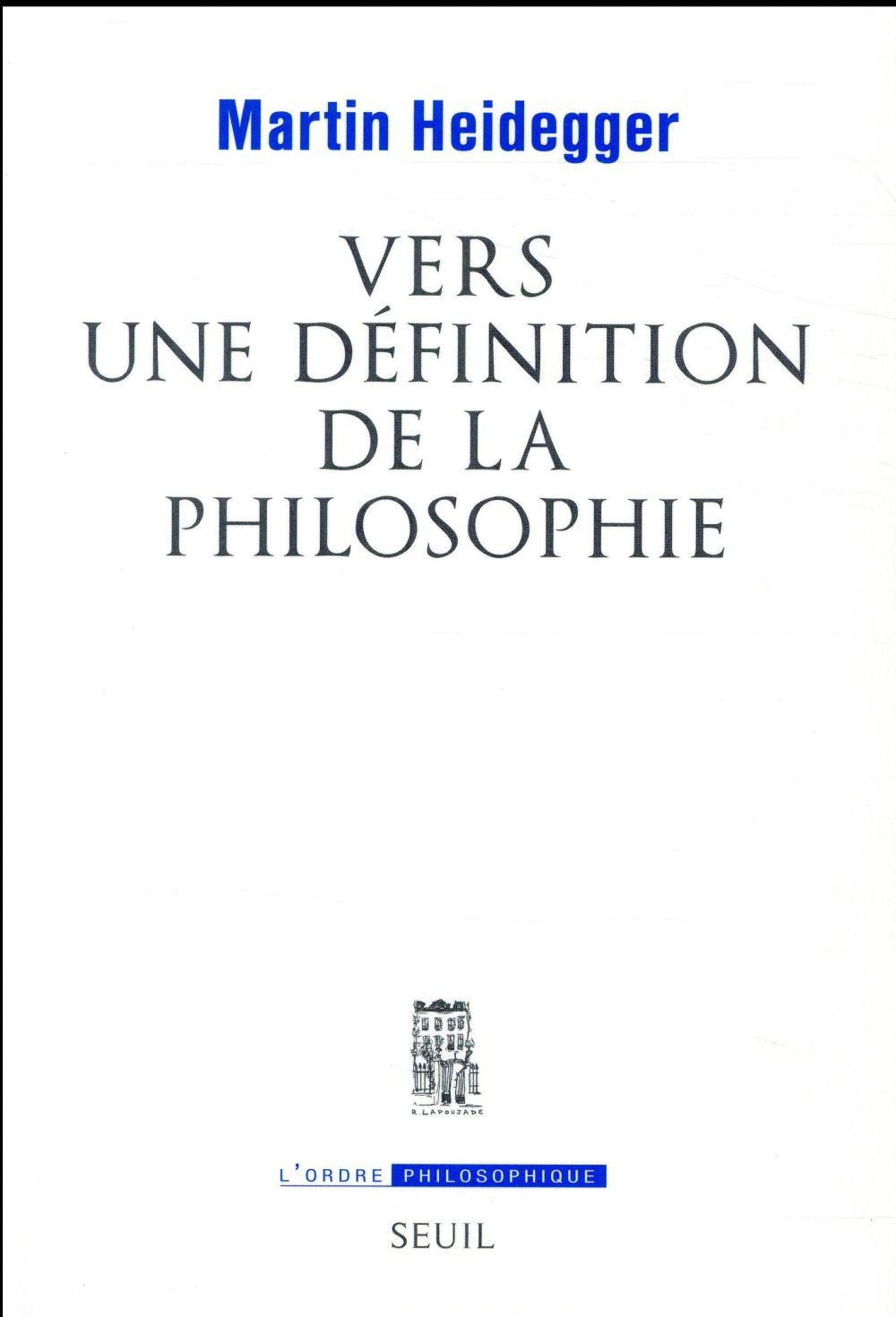Vers une définition de la philosophie