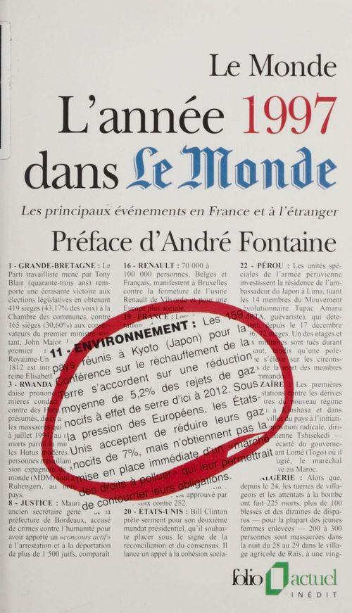 L'année 1997 dans Le Monde