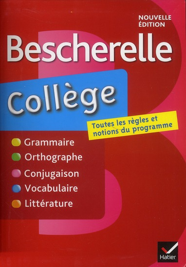 Bescherelle ; collège