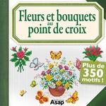 Vente Livre Numérique : Fleurs et bouquets au point de croix  - Brigitte Roquemont
