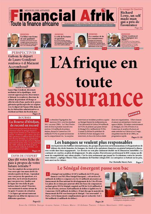 Financial Afrik n°4 mars 2014