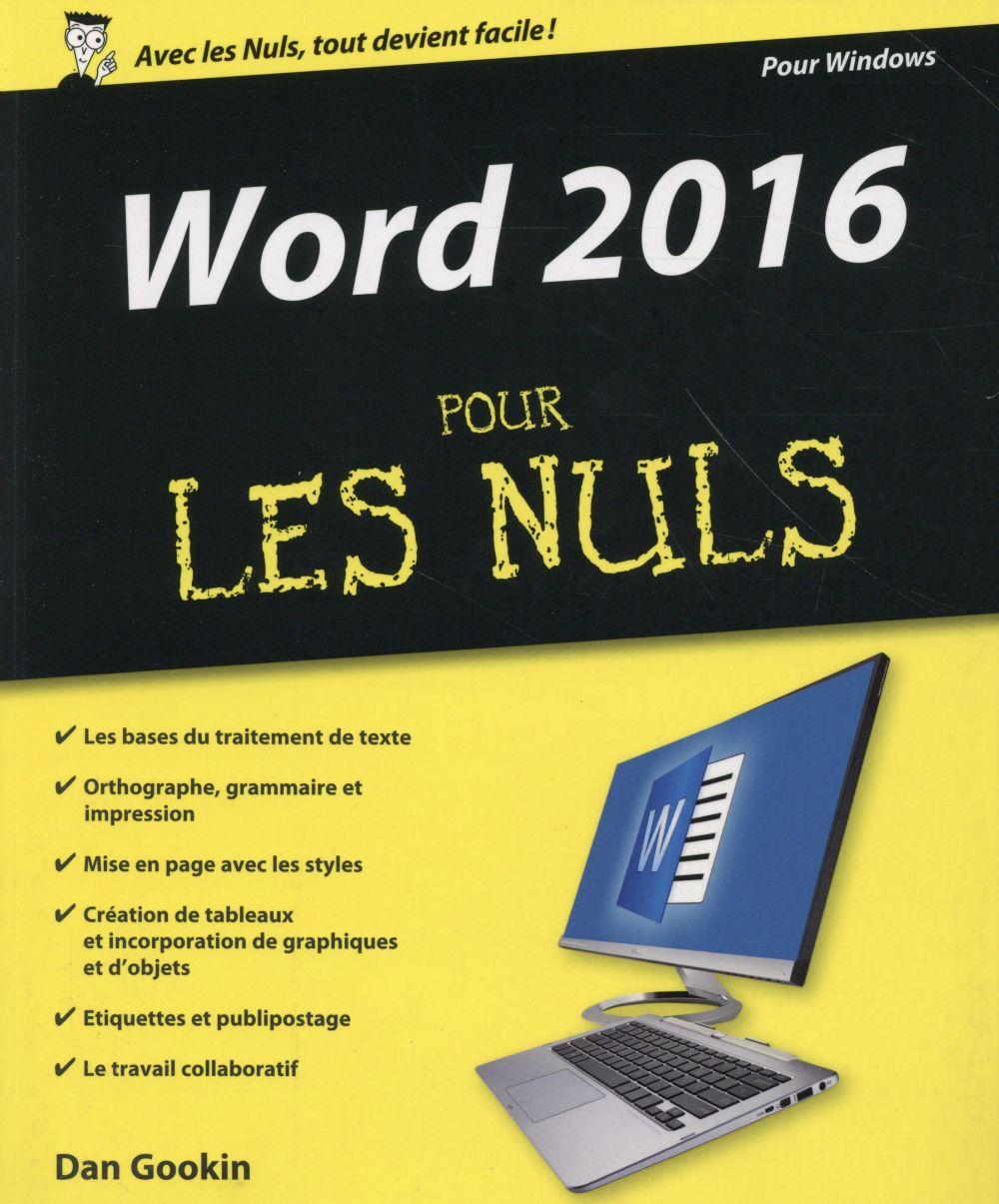 Gookin Dan - WORD 2016 POUR LES NULS