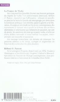 La france de vichy 1940-1944