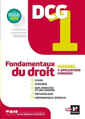 Vente Livre Numérique : DCG 1 - Fondamentaux du droit - Manuel et applications  - Alain Burlaud  - Maryse Ravat  - Priscilla Benchimol  - Françoise Rouaix