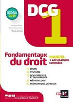 Vente EBooks : DCG 1 - Fondamentaux du droit - Manuel et applications  - Alain Burlaud - Françoise Rouaix - Maryse Ravat - Priscilla Benchimol