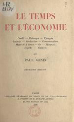 Vente Livre Numérique : Le temps et l'économie  - Paul Genin