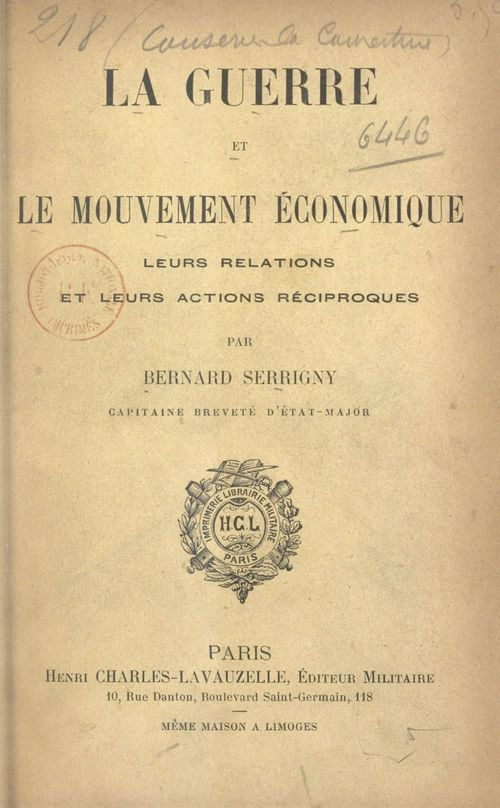 La guerre et le mouvement économique