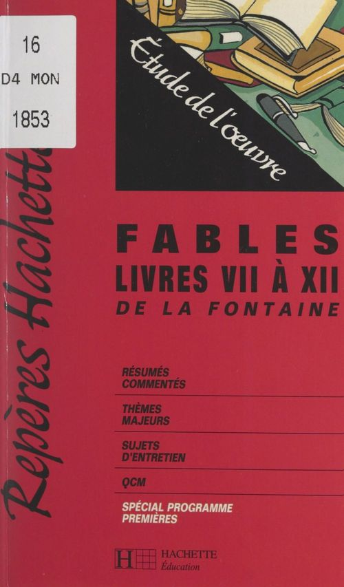 Fables, livres VII à XII de La Fontaine
