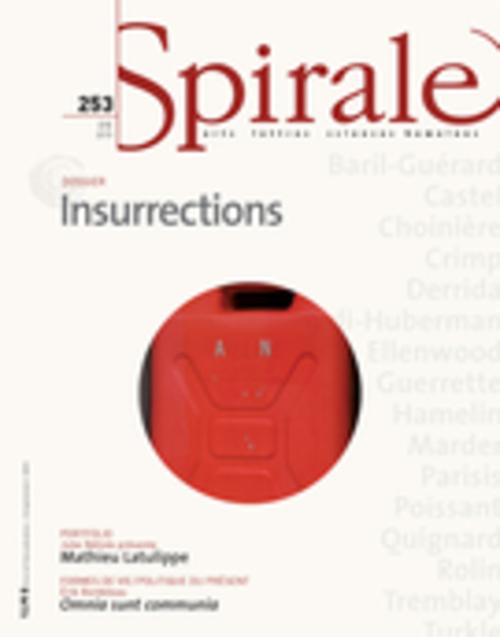 Spirale. No. 253, Été 2015