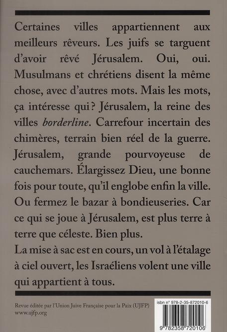De l'autre cote t.6; memoire de jerusalem
