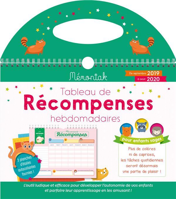 Memoniak ; Tableau De Recompenses Hebdomadaires (Edition 2019/2020)