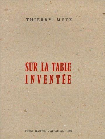 Sur la table inventée