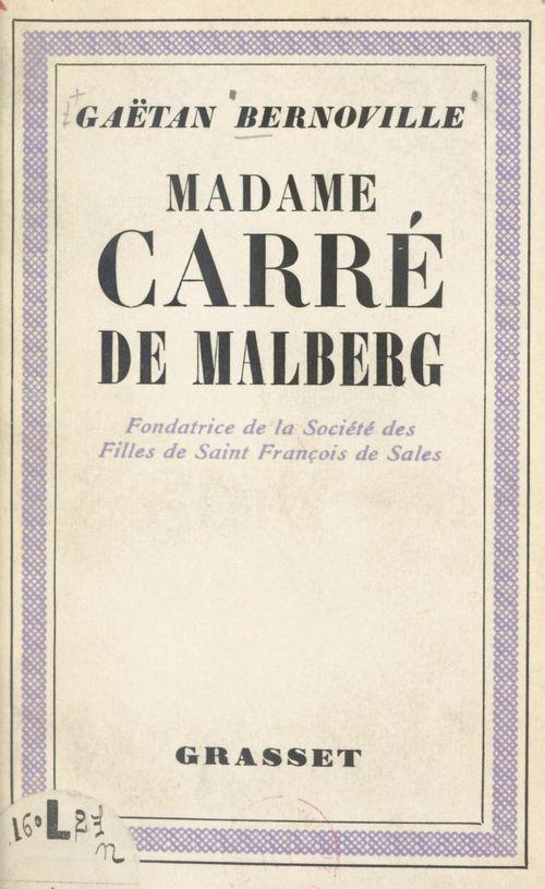 Madame Carré de Malberg
