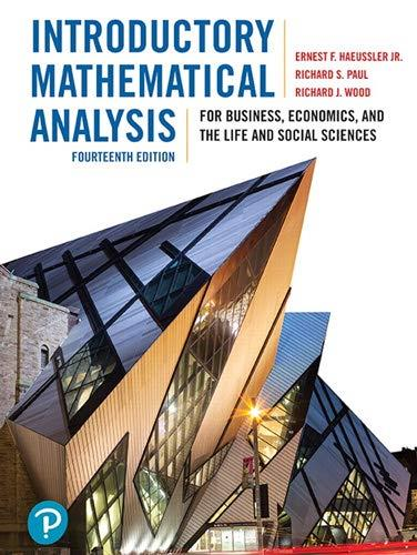Introductory Mathematical Analysis for Business, Economics, and The Life and Social Sciences (14e édition)