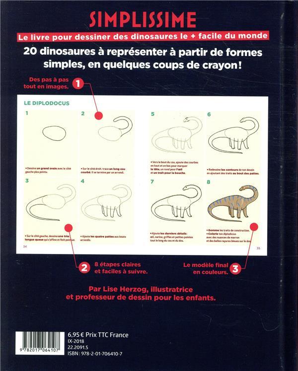 simplissime ; le livre pour dessiner les dinosaures le + facile du monde
