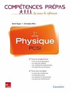 COMPETENCES PREPAS ; physique ; PCSI 1re année