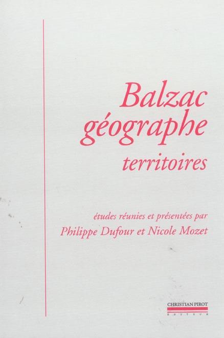 Balzac geographe - territoires