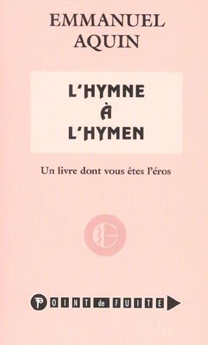 l'hymne a l hymen