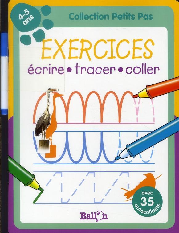 écrire, tracer, coller ; 4-5 ans