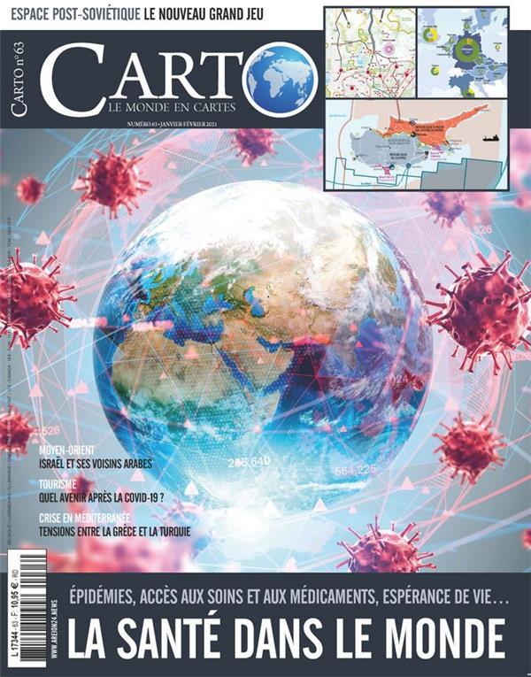 Carto n 63 - la sante dans le monde - janvier 2021