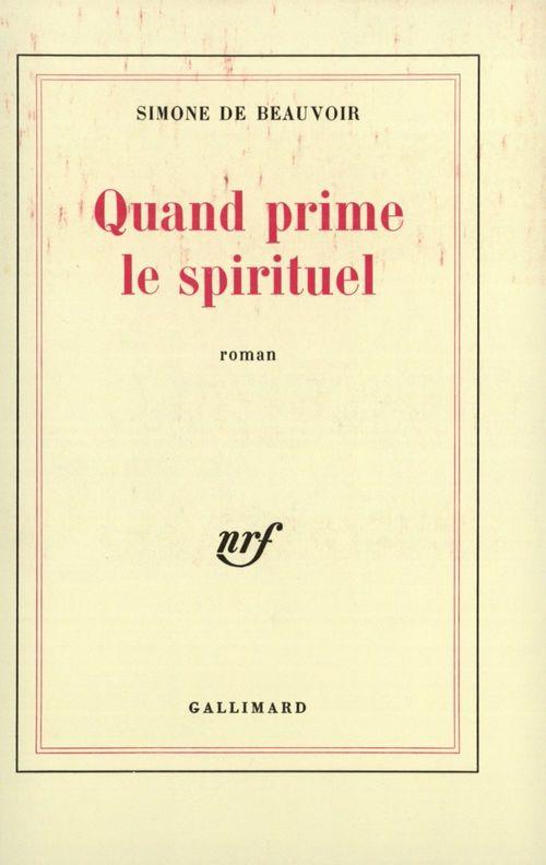 Quand prime le spirituel