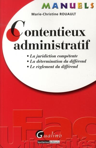 Manuel - Contentieux Administratif