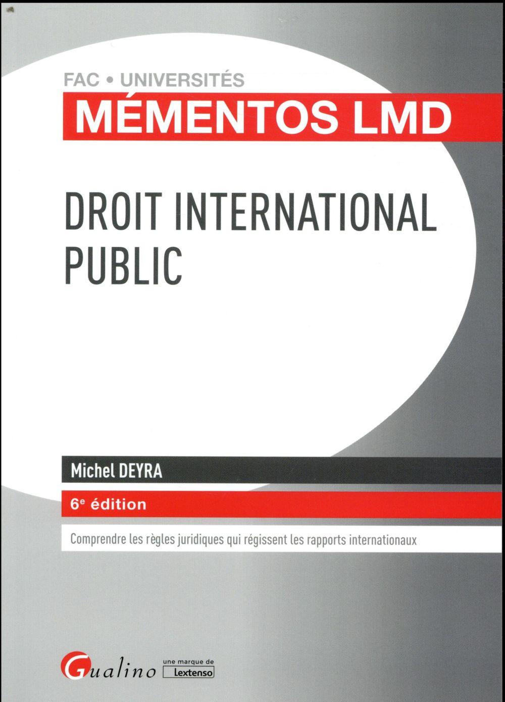 Droit international public (6e édition)