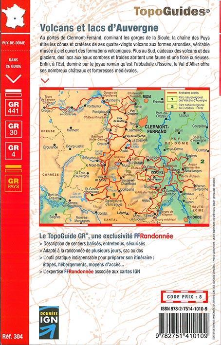Volcans et lacs d'Auvergne ; pays du Val d'Allier