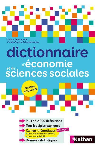 Dictionnaire d'économie et de sciences sociales (édition 2018)