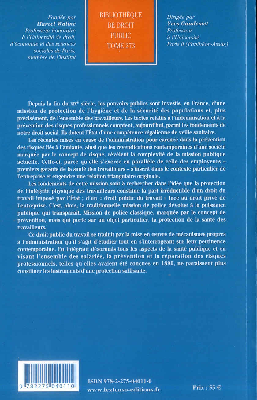 L'Etat et la protection de la santé des travailleurs