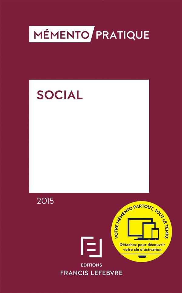 Memento Pratique; Social (Edition 2015)