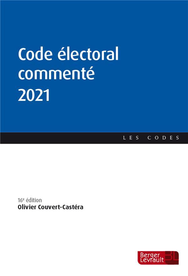 Code électoral commenté (édition 2021)
