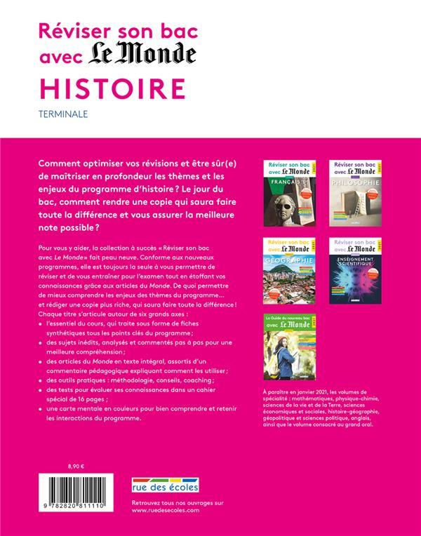 Réviser son bac avec Le Monde ; histoire ; 56 questions corrigées et commentées (édition 2021)