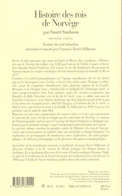 Histoire des rois de Norvège t.1