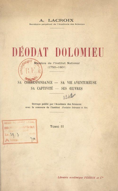 Déodat Dolomieu, membre de l'Institut national, 1750-1801 (2)