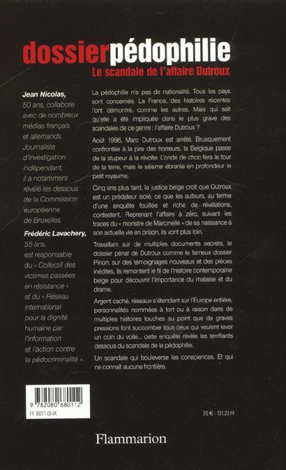 Dossier pédophilie ; le scandale de l'affaire Dutroux