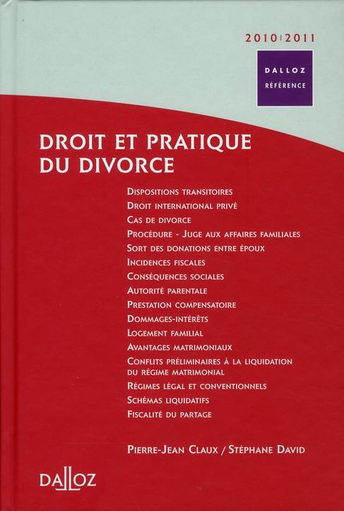 Droit et pratique du divorce (édition 2010/2011)